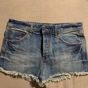 Free People Denim Crop Shorts